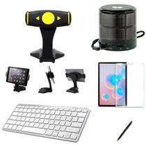 "Kit Escola para Samsung Galaxy Tab S6 T860/T865 10,5"" Suporte/Can/Pel/Teclado/Mini Speaker - Bd Cases"