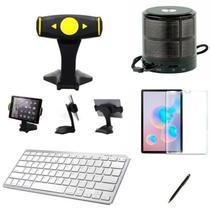 "Kit Escola para Samsung Galaxy Tab S6 T860/T865 10,5"" Suporte/Can/Pel/Teclado/Mini Speaker - Global Cases"