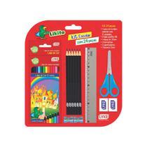 Kit escolar com 24 peças - like - mcd -