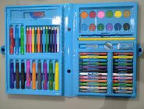 Kit Escolar Estojo Maleta Pintura 68 Peças Azul MT-68A - Regal -