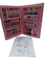 Kit escolar estojo maleta pintura 86 pçs rosa - mt-86r - regal -