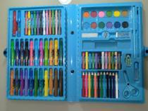 Kit Escolar Estojo Maleta Pintura 98 Peças Azul Artzone Fashion MT-98R - Regal -