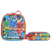 Kit Escolar Lancheira + Estojo Triplo DMW PJ Masks Team (11552+11557) -