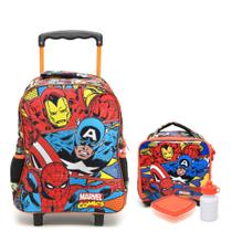 1591f11ba Kit escolar Marvel Comics Trio - mala M e lancheira Xeryus 7061 7064