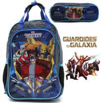 Kit Escolar Menino Guardiões Da Galáxia Marvel Mochila + Estojo Duplo - Dmw