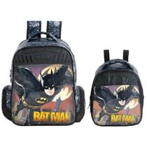 Kit Escolar Mochila 16 + Lancheira Xeryus Batman Gothan Guardian (7592+7594) -