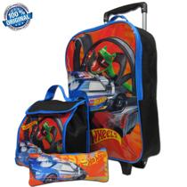 Kit Escolar Mochila Tam G Hotwheels Sestini -