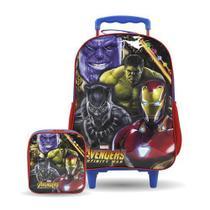 Kit Escolar Mochilete + Lancheira Avengers 8480 - Xeryus