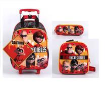 Kit escolar os incriveis 2 mochilete lancheira e estojo - dermiwil -
