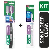 Kit Escova Dental Deep Clean Sonic  + Refil  (GUM) -