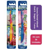 Kit Escova Dental Infantil Oral B - Stages 5 - 7 anos com 36 Unidades -