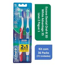 Kit Escova Dental Oral-B 3D White Advantage 35 L2P1 com 36 Packs - Oral B