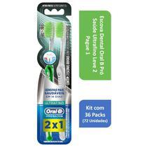 Kit Escova Dental Oral B Pró Saúde Ultrafino L2P1 com 36 Packs -