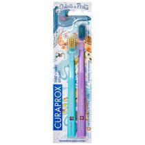 Kit Escova Dental Ultra Soft CS 5460 Violeta + Smart Azul Projeto Tamar Curaprox -