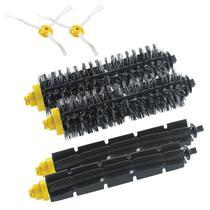 Kit Escovas Cerdas/Lateral 2 Unid Cada Irobot Roomba 600/700 -