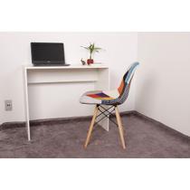 Kit Escrivaninha 90cm Branca + 01 Cadeira Charles Eames - Patchwork - Magazine Decor