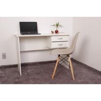 Kit Escrivaninha Com Gaveteiro Branca + 01 Cadeira Charles Eames - Nude - Magazine Decor