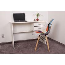 Kit Escrivaninha Com Gaveteiro Branca + 01 Cadeira Charles Eames - Patchwork - Magazine Decor