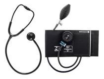 Kit Esfigmomanômetro Aparelho De Pressão + Estetoscópio Duplo Bic -