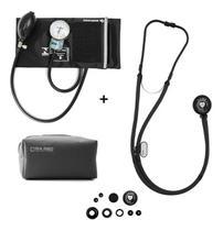 Kit Esfigmomanômetro Estetoscopio Rappaport Black Ed P.a Med - P. A. Med