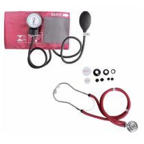 Kit Esfigmomanômetro + Estetoscopio Rappaport Premium -