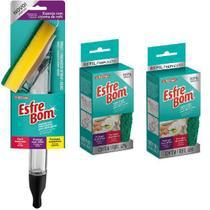 Kit Esfrebom Esponja com Dispenser PLAST + 2 Refil Bettanin -