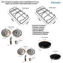 Kit espalhadores + bacias + grelhas p/ fogões electrolux 4 bc 52 sm -