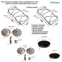 Kit espalhadores + bacias + grelhas p/ fogões electrolux 4 bc 52 smb -