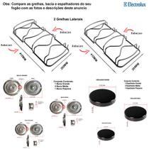 Kit espalhadores + bacias + grelhas p/ fogões electrolux 4 bocas 50 ss -