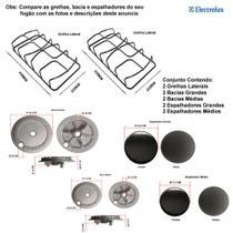 Kit espalhadores + bacias + grelhas p/fogões electrolux 4 bocas 52 sx -