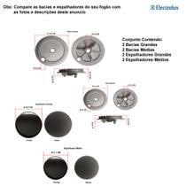 Kit espalhadores + bacias p/ fogões electrolux 4 bocas 52 sx -