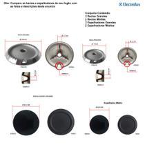 Kit espalhadores + bacias p/ fogões electrolux 4 bocas 56 hl -