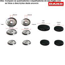 Kit espalhadores + bacias para fogões dako civic 4 bocas -