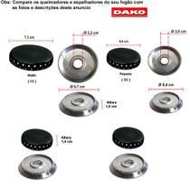 Kit espalhadores + bacias para fogões dako lumina 4 bocas -