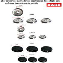 Kit espalhadores + bacias para fogões dako mizure 6 bocas -