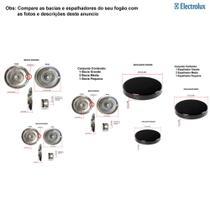 Kit espalhadores + bacias para fogões electrolux 4 bocas 50 spb -