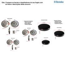 Kit espalhadores + bacias para fogões electrolux 4 bocas 50 sx -