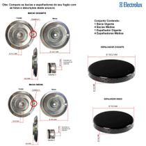 Kit espalhadores + bacias para fogões electrolux  5 bocas 76 ssc -