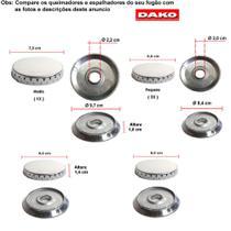 Kit espalhadores em alumínio + bacias para fogões dako supreme 4 bcs -