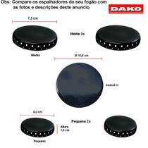 Kit espalhadores esmaltados para fogões dako classe 5 bc -