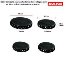 Kit espalhadores esmaltados para fogões dako ng 4 bocas -