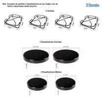 Kit espalhadores + grelhas p/ fogões electrolux 4 bocas 52 srb -