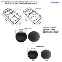 Kit espalhadores + grelhas p/ fogões electrolux 4 bocas 52 sx -