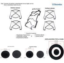 Kit espalhadores + grelhas p/ fogões tripla chama electrolux 5 bocas 76 dtb -