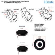 Kit espalhadores + grelhas p/ fogões tripla chama electrolux 5 bocas 76 dxa -