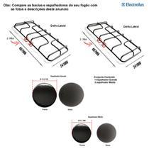Kit espalhadores + grelhas para fogão electrolux 4 bocas 56 ut -