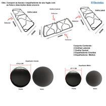 Kit espalhadores + grelhas para fogões electrolux 76 ub -