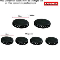 Kit espalhadores para fogões dako palace pluss 6 bocas -