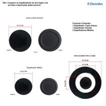 Kit espalhadores para fogões tripla chama electrolux 5 bocas 76 dxv -