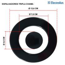 Kit espalhadores para fogões tripla chama electrolux 5 bocas 76 edx -